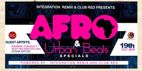 AFRO & URBAN Beats Specials, CluB ReD !! tickets