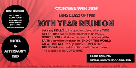 LHHS 30 Year Reunion tickets