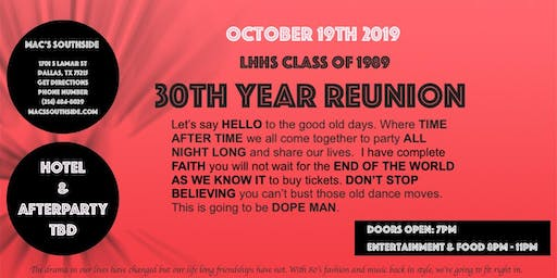 LHHS 30 Year Reunion