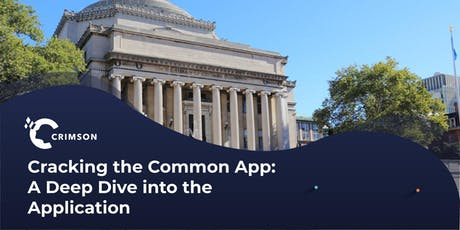 Cracking the Common App: A Deep Dive into the Application (Jersey City) tickets