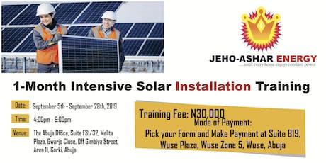 Solar Installation Training tickets