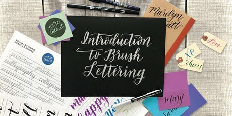 Introduction to Brush Lettering with We're Into It at Albertine Press tickets