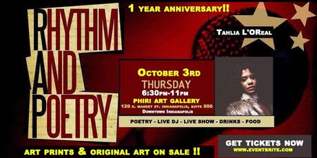 Rhythm & Poetry Thursdays \ 1 Year Anniversary @phiri Oct 3rd tickets