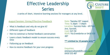 Giving Effective Feedback for Managers and Business Owners tickets
