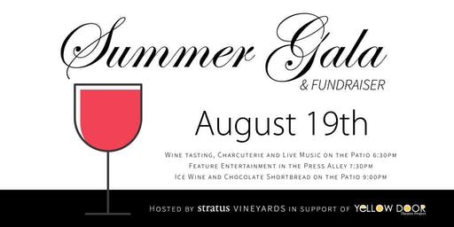 Fundraising Gala - Hosted by Stratus Winery in Support of Yellow Door Theatre Project