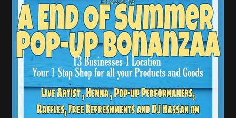 END OF SUMMER POP-UP BONANZAA tickets