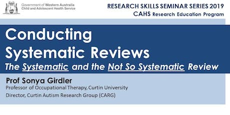 Research Skills Seminar: Conducting Systematic Reviews - 6 September tickets