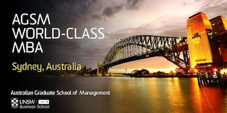 AGSM Full-Time MBA: Meet with the AGSM Academic Director: USA tickets
