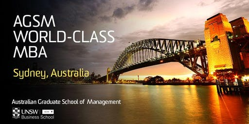 AGSM Full-Time MBA: Meet with the AGSM Academic Director: USA