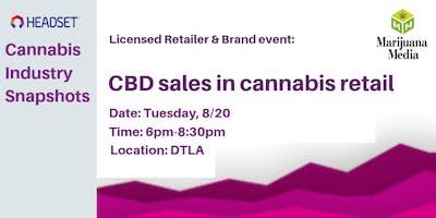 CBD sales in Cannabis Retail