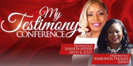 My Testimony Women's Conference entradas