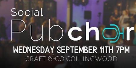 September Melbourne Social Pub Choir tickets