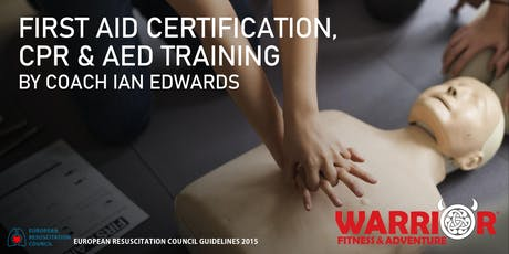 First Aid Certification, CPR & AED Training September 8, 2019 tickets