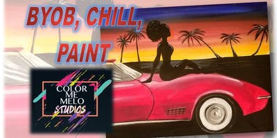 "BYOB CHILL & PAINT in Upland, CA ""California Dreamin"""