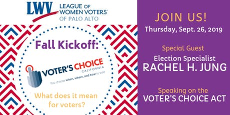LWVPA Fall Kickoff: Goodbye Precincts, Hello Easy Voting-Voters Choice Act tickets