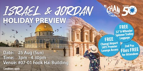 Israel & Jordan Holiday Preview tickets