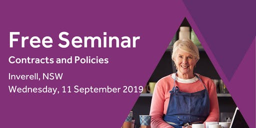 Free Seminar: Contracts and policies – Inverell, 11th September