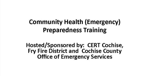 Community Health Preparedness Training   FREE *