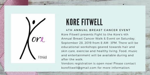 Kore Fitwell 4th Annual Breast Cancer Event