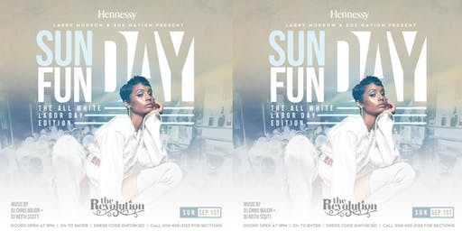 SUNDAY FUNDAY LABOR DAY WEEKEND ALL WHITE PARTY