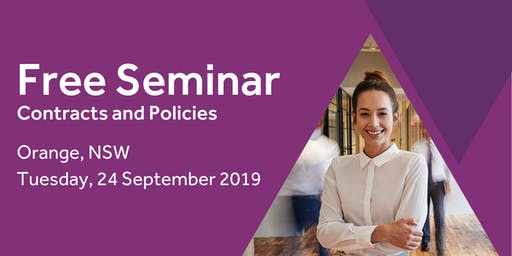Free Seminar: Contracts and policies – Orange, 24th September