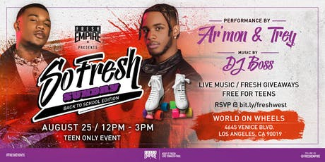 Armon & Trey X Fresh Empire World on Wheels Take Over tickets