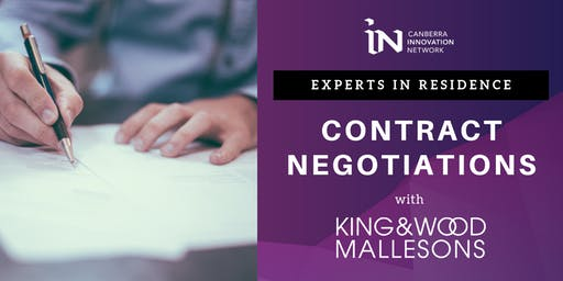 Experts in Residence: Contract Negotiations with King & Wood Mallesons