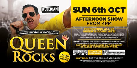 Queen Rocks LIVE at Publican, Mornington! tickets