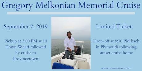 Gregory Melkonian Memorial Cruise tickets