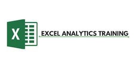 Excel Analytics 3 Days Training in Toronto tickets