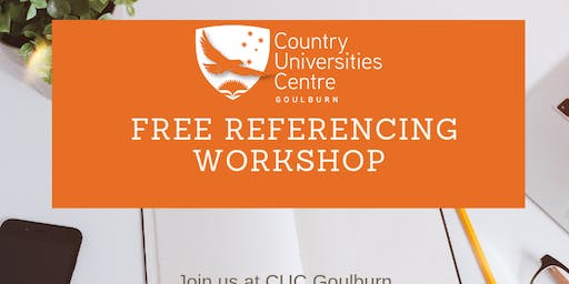 University Referencing Workshop