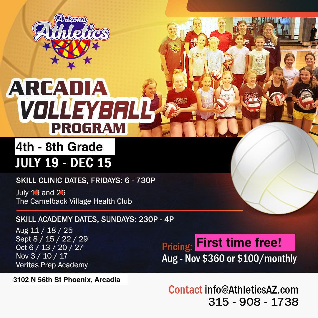 Arcadia Volleyball 4th - 8th Grade Youth Girls
