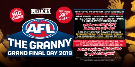 Grand Final Day 2019 at Publican, Mornington! tickets