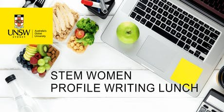 STEM Women Profile Writing Lunch tickets