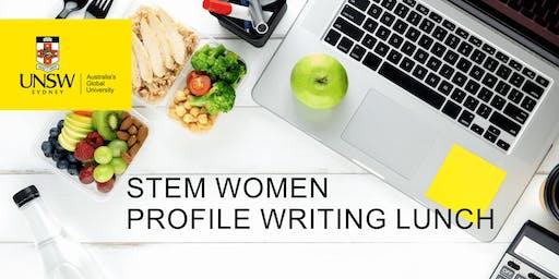 STEM Women Profile Writing Lunch