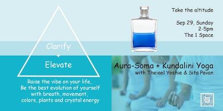 """Clarify + Elevate"" -Aura-Soma®+Kundalini Yoga-  with Theiael Yoshie & Sita Pavan  tickets"