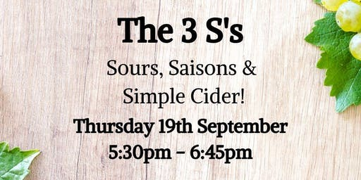 Sours, Saison & Simple Cider Tasting