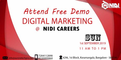 Free Demo on Advanced Digital Marketing tickets