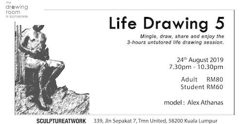 Life Drawing 5 - Model: Alex Athanas