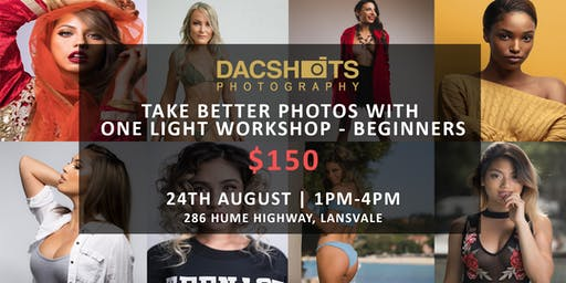 TAKE BETTER PHOTOS WITH ONE LIGHT WORKSHOP - BEGINNERS