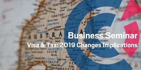 WA | Visa & Tax: 2019 Changes Implications tickets