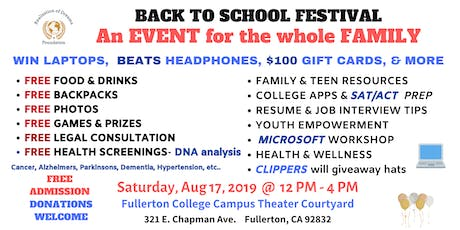 BACK TO SCHOOL FESTIVAL tickets