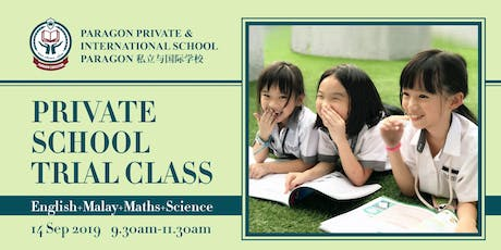 Private School Trial Class : English+Malay+Maths+Science tickets