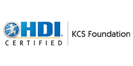 HDI KCS Foundation 3 Days Training in Calgary tickets