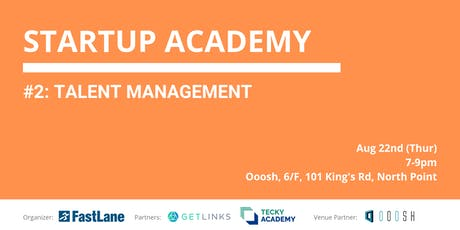 Fastlane Startup Academy 2 - Talent Management tickets