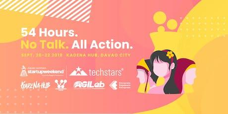 Techstars Startup Weekend Davao: Women Edition 2019 tickets