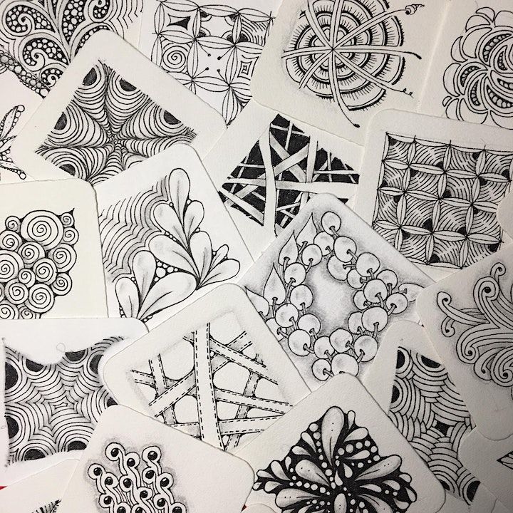 Zentangle®  Essential: Beginners' Course(ONLINE)  禅绕画初阶课(线上) -10/10/21 image