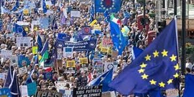 EU in Brum Bus to the People's Vote march in London on October 19th