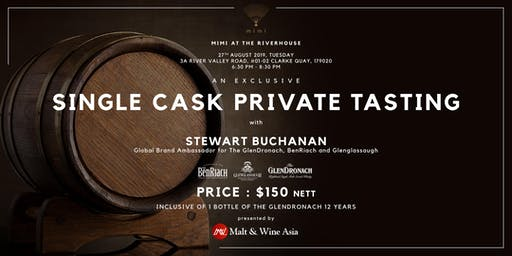 Single Cask Private Tasting (Mimi at The Riverhouse)