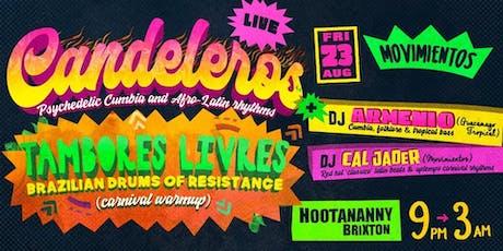 Movimientos: Candaleros + DJ Armenio (Guacamayo Tropical) tickets